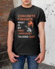 Concrete Finisher First Language Talking Shit Classic T-Shirt apparel-classic-tshirt-lifestyle-31