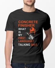 Concrete Finisher First Language Talking Shit Classic T-Shirt lifestyle-mens-crewneck-front-13