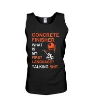 Concrete Finisher First Language Talking Shit Unisex Tank thumbnail