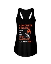 Concrete Finisher First Language Talking Shit Ladies Flowy Tank thumbnail