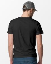 Firefighter Never Underestimate Old Man Bunker Classic T-Shirt lifestyle-mens-crewneck-back-6