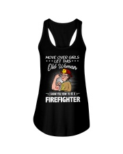 Move Over Boys Let This Old Woman Firefighter Ladies Flowy Tank tile