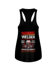 Warning Welder With A Strong Personalit Ladies Flowy Tank thumbnail