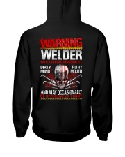 Warning Welder With A Strong Personalit Hooded Sweatshirt thumbnail