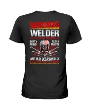 Warning Welder With A Strong Personalit Ladies T-Shirt thumbnail