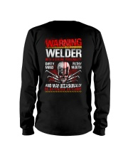 Warning Welder With A Strong Personalit Long Sleeve Tee thumbnail