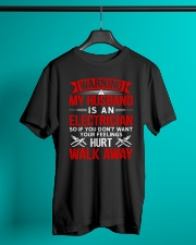 Warning My Husband Is A Electrician Classic T-Shirt lifestyle-mens-crewneck-front-3
