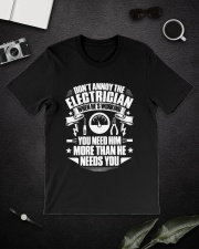 Don't Annoy The Electrician Classic T-Shirt lifestyle-mens-crewneck-front-16