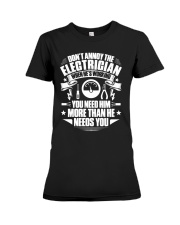 Don't Annoy The Electrician Premium Fit Ladies Tee thumbnail