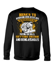 Here's to working our asses off Putting bread Crewneck Sweatshirt thumbnail