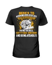 Here's to working our asses off Putting bread Ladies T-Shirt thumbnail