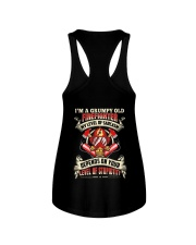 I'm A Grumpy Old Firefighter My Level Of Sarcasm Ladies Flowy Tank thumbnail