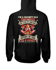 I'm A Grumpy Old Firefighter My Level Of Sarcasm Hooded Sweatshirt thumbnail