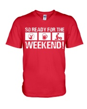 So Ready  For The Weekend Hunting V-Neck T-Shirt thumbnail