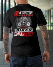 Yelling I'm A Biker That's How We Talk Classic T-Shirt lifestyle-mens-crewneck-back-3