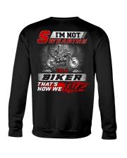Yelling I'm A Biker That's How We Talk Crewneck Sweatshirt thumbnail
