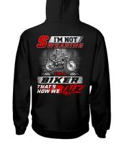 Yelling I'm A Biker That's How We Talk Hooded Sweatshirt thumbnail