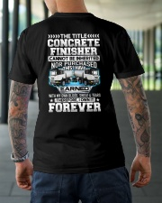 The Title Concrete Finisher Canot Be Inherited Classic T-Shirt lifestyle-mens-crewneck-back-3