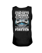 The Title Concrete Finisher Canot Be Inherited Unisex Tank thumbnail