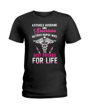 Asshole Husband And Smartass Nurse Wife Best Ladies T-Shirt thumbnail
