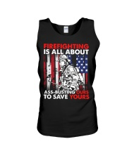 Firefighting Is All About Ass Busting Ours To Save Unisex Tank thumbnail