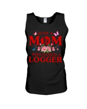 Just A Mom Who Raised A Logger Unisex Tank thumbnail
