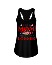 Just A Mom Who Raised A Logger Ladies Flowy Tank thumbnail