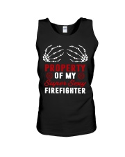 Property Of My Super Sexy Firefighter Unisex Tank thumbnail