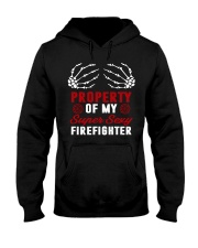 Property Of My Super Sexy Firefighter Hooded Sweatshirt thumbnail