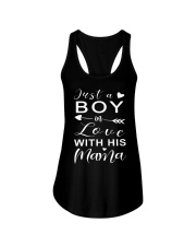 Just A Boy In Love With His Mama Ladies Flowy Tank thumbnail