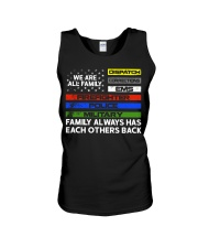 We are all family Dispatch Corrections EMS Unisex Tank thumbnail