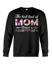 The Best King Of Mom Raises A Hair Stylist Crewneck Sweatshirt thumbnail