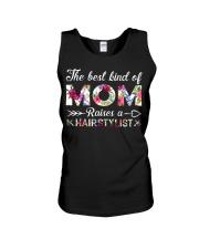The Best King Of Mom Raises A Hair Stylist Unisex Tank thumbnail