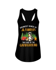 Drunkest Bunch Campground Ladies Flowy Tank thumbnail