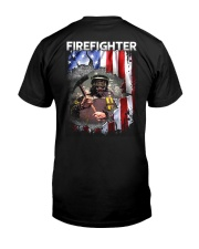 Firefighter Flag Classic T-Shirt back