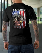 Firefighter Flag Classic T-Shirt lifestyle-mens-crewneck-back-3