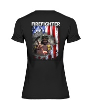 Firefighter Flag Premium Fit Ladies Tee thumbnail