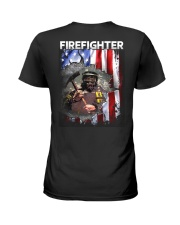 Firefighter Flag Ladies T-Shirt thumbnail