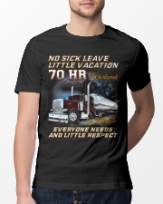 No Sick Leave Little Vacation Trucker Classic T-Shirt lifestyle-mens-crewneck-front-13