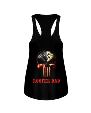 Roofer Dad Skull Ladies Flowy Tank thumbnail