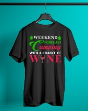 Weekend Forecast Camping With A Chance Of Wine Classic T-Shirt lifestyle-mens-crewneck-front-3