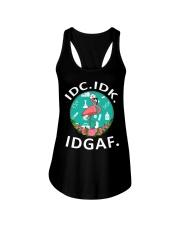 IDC IDK IDGAF Ladies Flowy Tank thumbnail