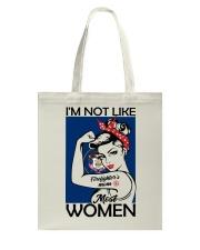 I'm Not Like Firefighter's Mom Most Women Utah Tote Bag thumbnail