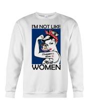 I'm Not Like Firefighter's Mom Most Women Utah Crewneck Sweatshirt thumbnail