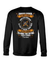 Electrician Curious Enough Crewneck Sweatshirt thumbnail