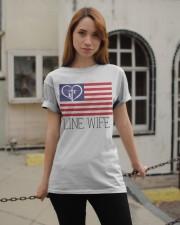 Line Wife Flag Shirt Classic T-Shirt apparel-classic-tshirt-lifestyle-19