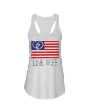 Line Wife Flag Shirt Ladies Flowy Tank thumbnail