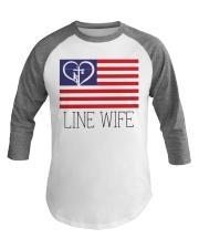 Line Wife Flag Shirt Baseball Tee thumbnail