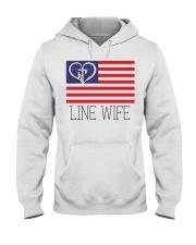 Line Wife Flag Shirt Hooded Sweatshirt thumbnail