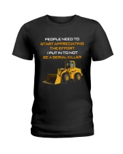 Heavy Equipment Operator Effort To Not Be A Killer Ladies T-Shirt thumbnail